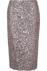 Tom Ford Sequined Silk Skirt Silver