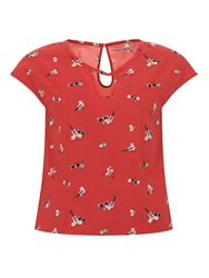 Trollied Dolly Hole Lot Of Fun Top Red