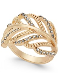 Inc International Concepts Gold Tone Crystal Leaf Ring Only At Macy's