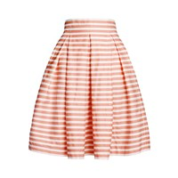 Rumour London Amalfi Coral Striped Midi Skirt Pink Purple