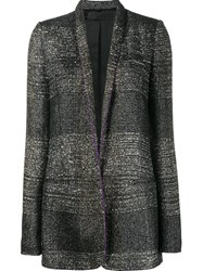 Haider Ackermann Striped Long Fitted Jacket Black