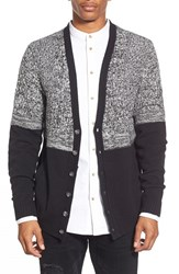 Men's The Rail 'Everett' Textured Mixed Knit Colorblock Cardigan