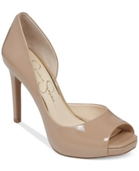 Jessica Simpson Jaselle D'orsay Platform Pumps Women's Shoes Nude Patent
