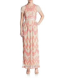 Needle And Thread Beaded Tier Maxi Dress Light Pink