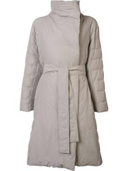Issey Miyake Pleats Please By Belted Oversized Coat Nude Neutrals