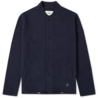 Folk Jersey Bomber Jacket Blue