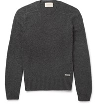 Gucci Wool And Cashmere Blend Sweater Gray