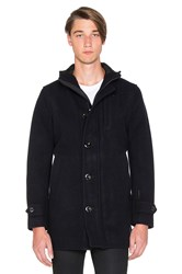 G Star Garber Premium Saya Wool Trench Blue