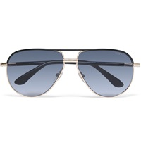 Tom Ford Cole Aviator Style Acetate And Metal Sunglasses Black