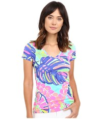 Lilly Pulitzer Michele Top Multi Exotic Garden Women's T Shirt
