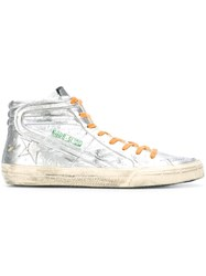 Golden Goose Deluxe Brand 'Slide' Hi Top Sneakers Metallic
