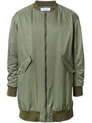 Fad Three Oversized Bomber Jacket Green