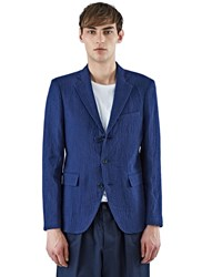 Yang Li Textured Blazer Jacket Navy