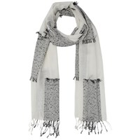 French Connection Hopscotch Scarf Monochrome
