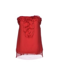 Scee By Twin Set Tube Tops Red