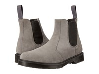Dr. Martens 2976 Chelsea Boot Grey Mare Hi Suede Wp Guesset Elastic Men's Pull On Boots Gray