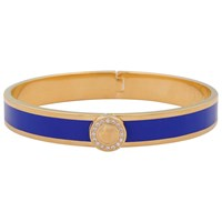 Halcyon Days Sparkle Button Bangle Cobalt Gold