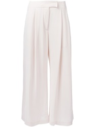 Dusan Wide Leg Cropped Trousers Nude And Neutrals