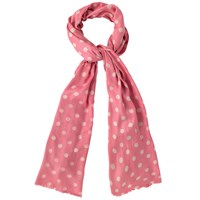 Cath Kidston Button Spot Scarf Papaya Cream
