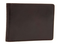 Bosca Old Leather New Fashioned Collection Small Bifold Wallet Dark Brown Leather Bi Fold Wallet