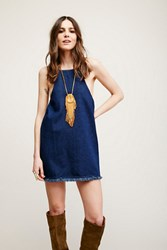 Joa X Free People Lace Up Back Denim Tunic
