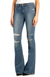 Petite Women's Paige Denim 'Bell Canyon' High Rise Flare Jeans Brady Destructed