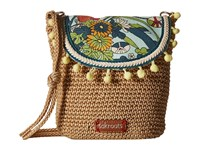 Sakroots Artist Circle Crochet Flap Crossbody Seafoam Flower Power Cross Body Handbags Multi