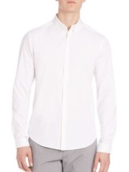 Theory Eric Ostend Dress Shirt White