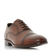 Howick Ripler Toe Cap Detail Oxford Shoes Tan