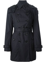 Burberry Brit Classic Trench Coat Blue