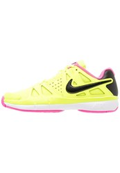 Nike Performance Air Vapor Advantage Outdoor Tennis Shoes Volt Black Pink Blast White Neon Yellow