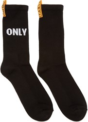 Kenzo Black 'Only You' Socks