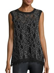 Generation Love Nia Lace Tank Top Black White