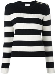 Red Valentino Button Detail Jumper Blue