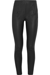 Thierry Mugler Stretch Leather Skinny Pants Black