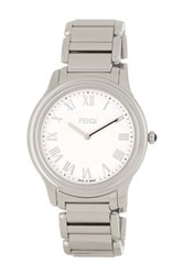 Fendi Unisex Classico Bracelet Watch White