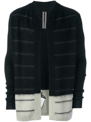 Rick Owens Two Tone Cardigan Black