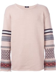 Ports 1961 Contrast Sleeve Jumper Pink And Purple