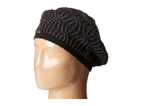 Calvin Klein Shaker Stitch Cable Beret Black Knit Hats