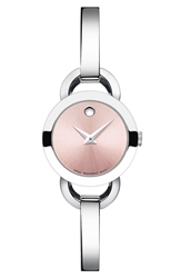 Movado 'Rondiro' Small Round Bangle Watch 22Mm Silver Pink