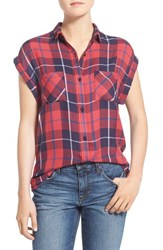 Rails Women's Plaid Cap Sleeve Shirt