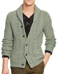 Polo Ralph Lauren Wool Cable Knit Cardigan Sage Green