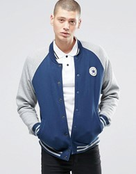 Converse Chuck Patch Jersey Bomber Jacket In Blue 10001111 A02 Blue