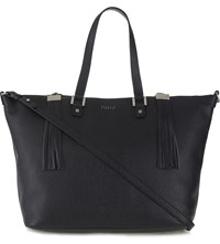 Claudie Pierlot Anais Grained Leather Tote Noir