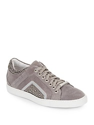 Alessandro Dell'acqua Studded Suede Sneakers Grey