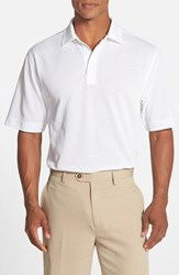 Men's Cutter And Buck 'Championship' Classic Fit Drytec Golf Polo White