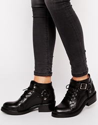 Asos Am I Dreaming Leather Ankle Boots Black
