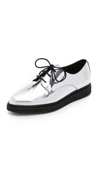 Opening Ceremony Wynn Creeper Oxfords Silver
