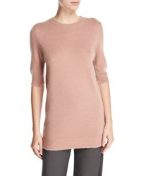Vince Long Cashmere Half Sleeve Sweater Rose Hip