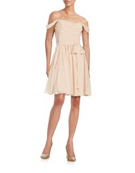Vera Wang Draped Fit And Flare Dress Blush